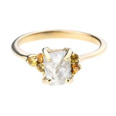 Raw Diamond Rings : Brides.com