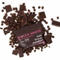 Mocca Shots Chocolate Raspberry Caffeine Gummy 12-pack 12x2 shots - Coffee vs Tea Macha Tea, Coffee Vs Tea, Mocca, Premium Coffee, Organic Coconut Oil, Natural Flavors, Caffeine, Herbalism, Raspberry