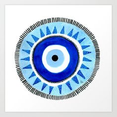 Occhio di Allah, Nazar Boncuk Art Print by Mirabilinto - X-Small Photo Wall Collage, Collage Art, Evil Eye Art, Eyes Artwork, Illustration Art, Illustrations, Eye Painting, Hippie Art, Pottery Painting