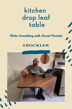 In this video, David Picciuto makes a simple looking, but challenging drop-leaf kitchen table. Watch the full build here! #CreateWithConfidence #DavidPicciuto #MakeSomething #KitchenTable #DropLeaf