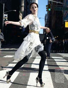 Coco Rocha by Dewey Nicks for Vogue Mexico December 2012 on Dolce & Gabbana