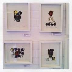 #vanitasforgirls hand printed coloured and gilded Gocco prints by Zoe Bailey