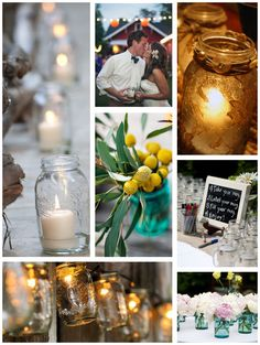 Mason Jar Weddings - Mon Cheri Bridals
