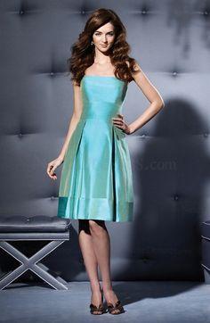 Modern Zipper A-line Pleated Taffeta Strapless Bridesmaid Dress - US$96.99 - ninedresses.com