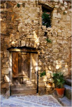 sunlight on the ancient walls...