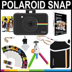 Polaroid Snap Instant Camera Black  2x3 Zink Paper 20 Pack  Neoprene Pouch  Photo Frames  Accessory Bundle *** Amazon most trusted e-retailer  #InstantCamera