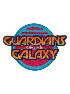Marvel Guardians Of The Galaxy Logo Iron-On Patch Cute Patches, Pin And Patches, Iron On Patches, Jacket Patches, Disney Patches, Embroidery Patches, Embroidered Patch, Hand Embroidery Designs, Embroidery Ideas
