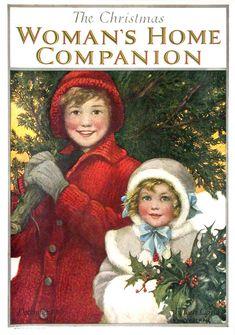 Woman's Home Companion...  / Christmas Card Art - Postcard - Posters