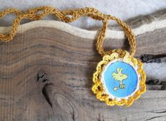 Woodstock Peanuts character Pendant Necklace or by OurCastleHouse, $6.50