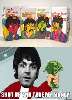 Beatles Juice Boxes