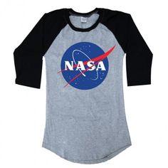 Raglan Nasa Logo Nasa, Cute Outfits, My Style, Tees, Mens Tops, T Shirt, Clothes, Oc, Victoria