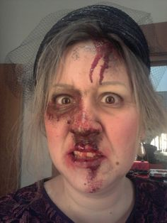 Accident amb maquillatge amateur