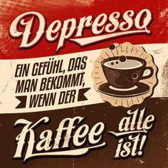 HOMEADE IN HAMBURG Kühlschrankmagnet Depresso