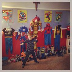 Super Hero boys room!!  So much fun!
