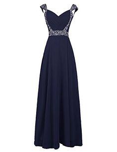 Dresstells® Long Chiffon Prom Dress with Beadings Pro…