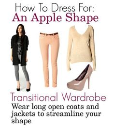 How To Dress For Your Shape: Apple Shape - transitional wardrobe