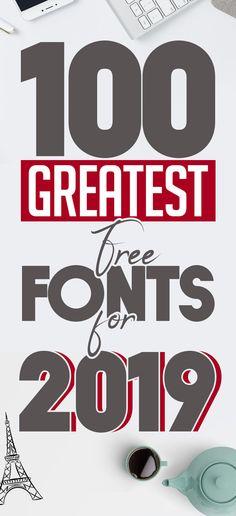 100 Greatest Free Fonts for 2019 - Food - Typography Web Design Blog, Website Design, Graphic Design Trends, Free Design, Logo Branding, Business Branding, Logos, Calligraphy Fonts, Script Fonts