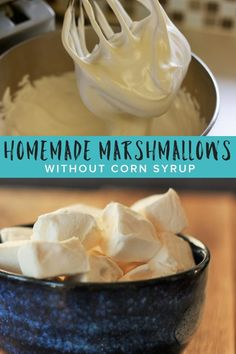 Learn how easy it can be to make honey-sweetened Homemade Marshmallows without corn syrup. These healthy homemade marshmallows are perfect for gifts, roasting, baking, or in a cozy cup of cocoa. How To Make Marshmallows, Recipes With Marshmallows, Homemade Marshmallows, Marshmallow Recipe Without Corn Syrup, Healthy Sweet Snacks, Nutritious Snacks, Healthy Desserts, Healthy Drinks, Sauces