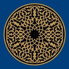 Vector of 'Mudaris Arabic Ornament' circles and interlaced circles