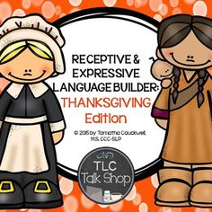 Building Communication with Thanksgiving Vocabulary and Situations. Students work on receptive and expressive vocabulary for Thanksgiving while also targeting description skills, inferencing skills, asking/answering questions, and basic sentence formulation.Manipulatives and sentence strips are included!************************************************************************CONTENTS: - Vocabulary Cards in Color (p. 4-7)- Thanksgiving Lingo [Just like Bingo] (p.8-13)- I have..