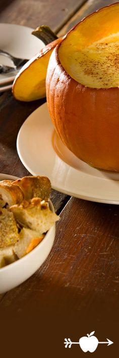 "Pumpkin ""Fun-due"": A fun and easy #Halloween recipe! #fondue"
