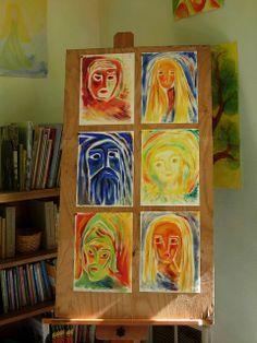Waldorf ~ 4th grade ~ Norse Mythology ~ Norse Gods ~ watercolor paintings