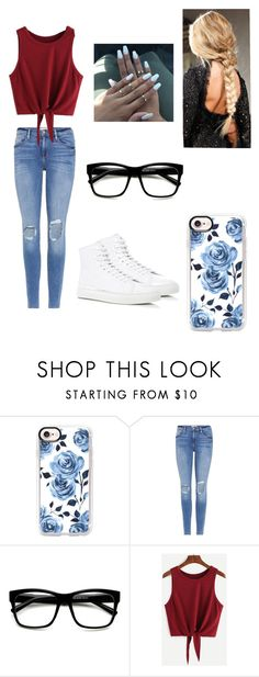 """""""Hosptial"""" by kendall-bostic ❤ liked on Polyvore featuring Casetify, Frame and Common Projects"""
