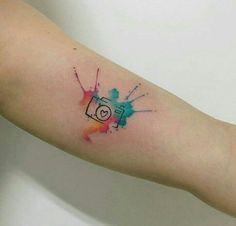 תוצאת תמונה עבור small watercolour tattoo