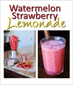 watermelon strawberry lemonade. Yummy drink