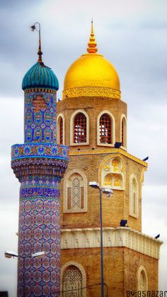 Kufa Great Mosque, one of the earliest in the world, Najaf, Iraq مسجد الكوفة… Architecture Antique, Religious Architecture, Beautiful Architecture, Art And Architecture, Islamic World, Islamic Art, Beautiful Mosques, Place Of Worship, Kirchen