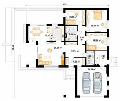 Aksamit 4 projekt domu - Jesteśmy AUTOREM - DOMY w Stylu Beautiful House Plans, Beautiful Homes, My House Plans, Bungalow House Design, Home Design Plans, Cool House Designs, Home Fashion, New Homes, Floor Plans