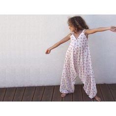 Patron de couture téléchargeable- Salopette Sarouel pour fillette Downloadable pattern - Dungarees sarouel for little girl