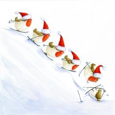 A fun image sharing community. Explore amazing art and photography and share your own visual inspiration! Merry Little Christmas, Christmas Time, Holiday, Illustrations, Illustration Art, Snowmen Paintings, Creation Photo, Scrapbooking, Owl Bird