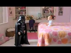 Pub Volkswagen et Baby Dark Vador - Que la force soit avec toi....