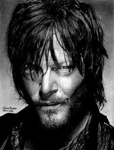 Daryl Dixon - The Walking Dead by Chrisbakerart on DeviantArt