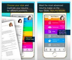 Resume Maker é uma ótima opção para quem usa o sistema operacional da Apple, iOS (Foto: Divulgação/ Resume Maker)