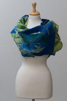 Nuno felted scarf felted scarf felt scarf Nuno by TERMEFELT