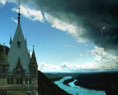 Dark clouds approach Castle Drachenburg - http://www.1pic4u.com/2014/05/15/dark-clouds-approach-castle-drachenburg/