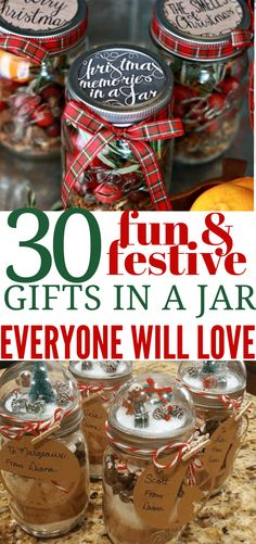 These gifts in a jar are THE BEST! I am so happy I found these GREAT gifts in a jar ideas and tips! Now I have great ways to create gifts on a budget. So pinning! Edible Christmas Gifts, Christmas On A Budget, Diy Holiday Gifts, Christmas Mason Jars, Edible Gifts, Diy Gifts, Christmas Ideas, Christmas Gifts For Adults, Christmas Wishes