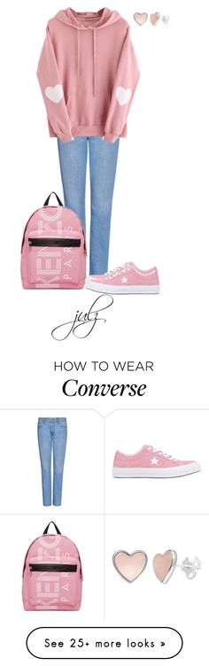 """""""Untitled #1481"""" by julz28520 on Polyvore featuring MSGM, Converse and Kenzo"""
