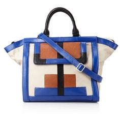Isabella Fiore Emma satchel Cobalt/Camel/Black with optional shoulder strap. Comes with original dustbag. Excellent preowned condition, carried twice with no significant flaws. Retail $475. Isabella Fiore Bags Satchels