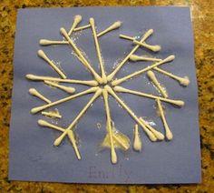 Q-Tip Snowflake