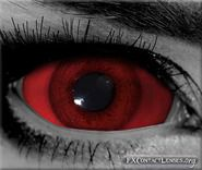 Red sclera Custom SFX contact lenses - Blood-craving urges scream from these ferocious red eyes. Create a surreal & scary effect for demons, devils, zombies or other hellish creatures.
