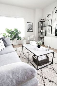42 Awesome Small Living Room Decor Ideas On A Budget. Gorgeous 42 Awesome Small Living Room Decor Ideas On A Budget. An effective decoration of a room largely depends on its size and shape and mainly the purpose for which it […] Living Room Grey, Living Room Modern, Home Living Room, Living Room Designs, Black And White Living Room Decor, Modern Minimalist Living Room, Simple Living Room Decor, Minimalist Apartment, Minimalist Home Decor