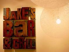 love wooden letters / press type-esque