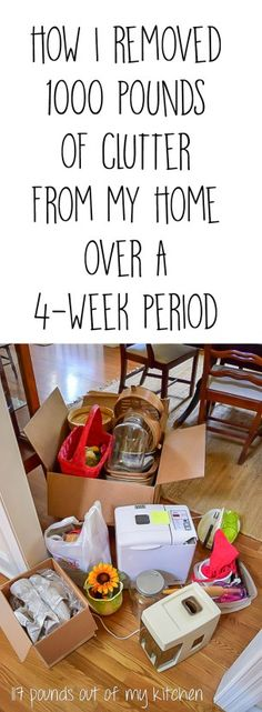 The Unclutter Your Nest Boot Camp is in our kitchens, office/craft room this week. How I removed 1,330 lbs of clutter from my home