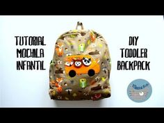 Tutorial mochila infantil - DIY toddler backpack - YouTube