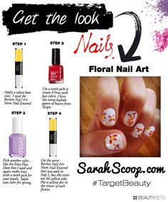 Floral Nail Art #TargetStyle @Target Style
