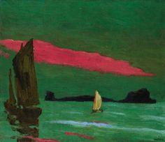 """South Sea Island"". Emil Nolde. c.1915."