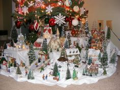 Not a train, but there is a pretty solid village in there. The Village under my Christmas Tree.